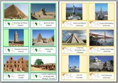 cartes : les monuments des différents continents à ajouter à mes cartes pour le coin blocs