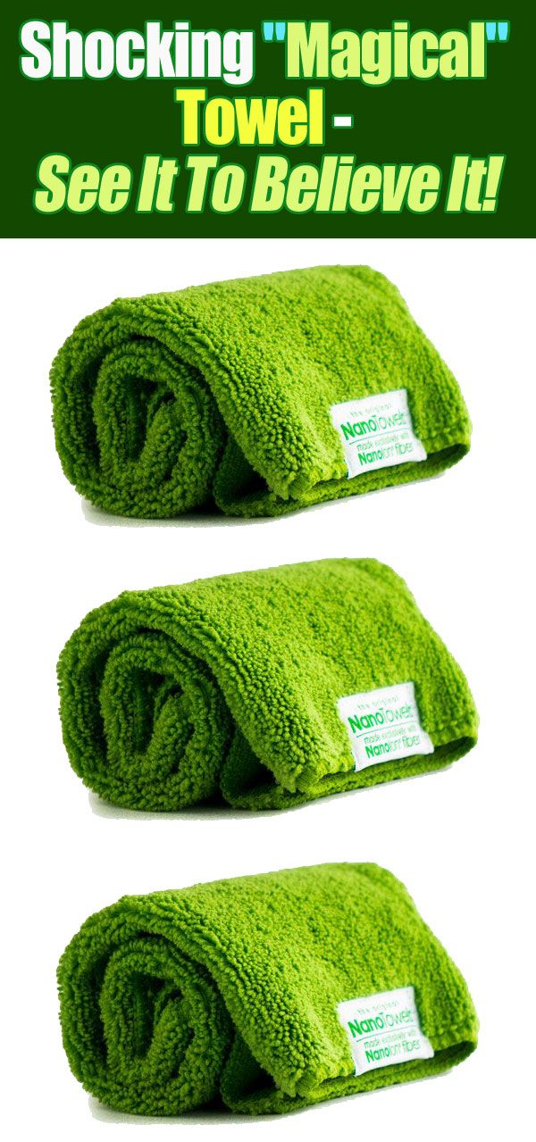 """Shocking """"Magical"""" Towel - See It To Believe It!"""