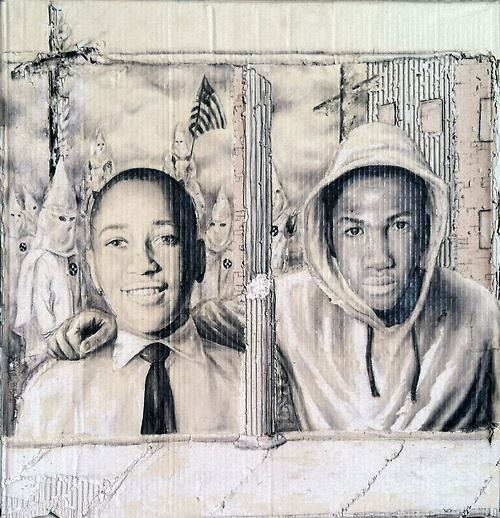 Emmett Till & Trayvon Martin. I know you think we don't love our kids like you do but we do. RIP too young men where years apart Justice was not served.