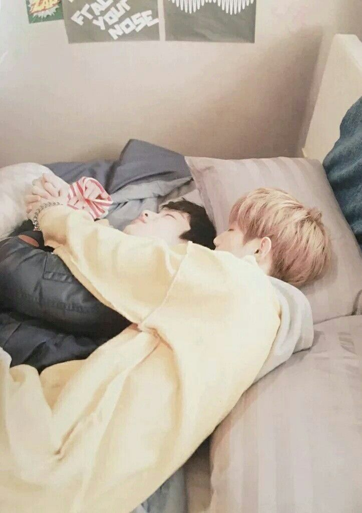 Mark & Junior (aww!! They're so cute when they sleep! We should be quiet, to not wake them up from their slumber :3 ♡<3) Got7 Sleeping°•◇◆