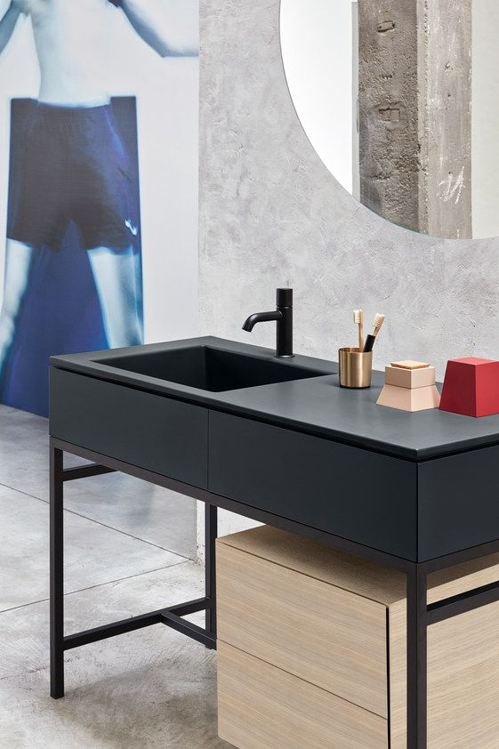 Floor-standing vanity unit with drawers MILANO by Ceramica Cielo