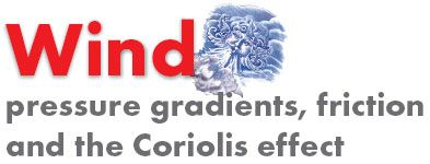 Weather - Wind: pressure gradients, friction and the Coriolis effect