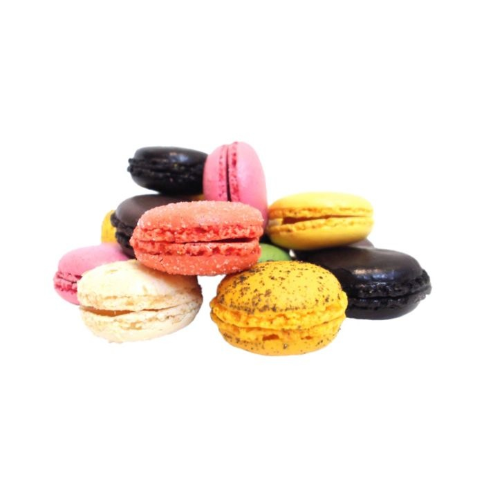 Enjoying a mouthful of macarons on this rainy afternoon!