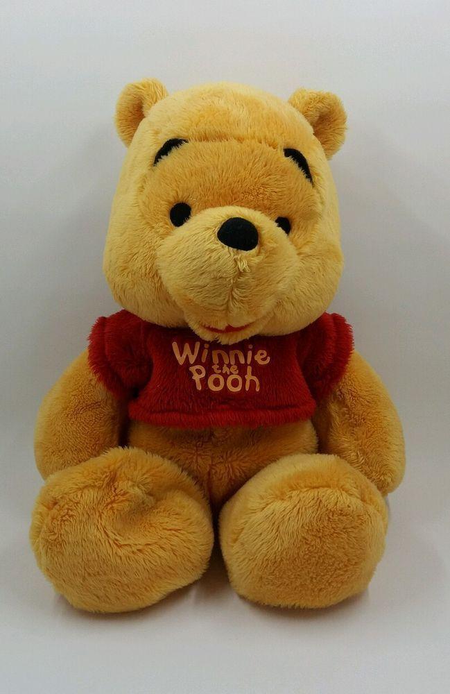 "11"" Disney Just Play Plush Winnie the Pooh Stuffed Animal Baby #Disney"