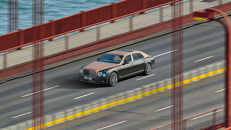 Bentley: Look closer Bentley releases a groundbreaking image of its new Mulsanne Extended Wheelbase, shot on San Francisco's iconic Golden Gate Bridge, using a panoramic 'Gigapixel' camera (15042017)