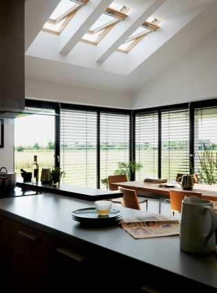 Velux windows in a kitchen