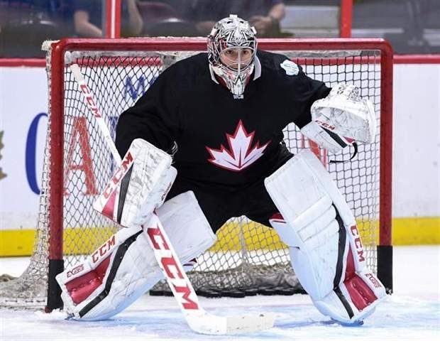 Price to play first game in nearly 10 months; long layoff a potential concern - Team Canada's Carey Price practises in Ottawa on Tuesday, Sept. 6, 2016., in preparation for the World Cup of Hockey. Price will start Canada's first World Cup of Hockey exhibition game on Friday in Columbus against the United States. (Photo by Sean Kilpatrickby) - by Jonas Siegel, The Canadian Press)