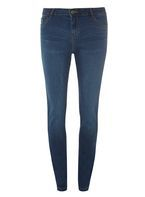 Womens Indigo Washed 'Ashley' Straight Jeans- Blue
