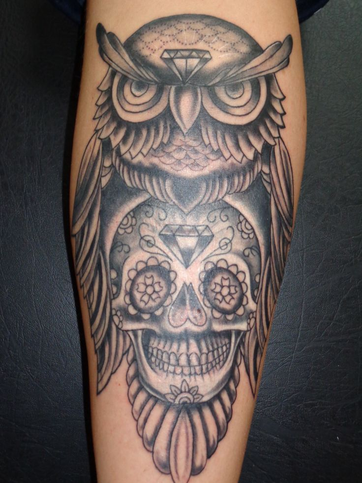 Owl By Tattooist Castro
