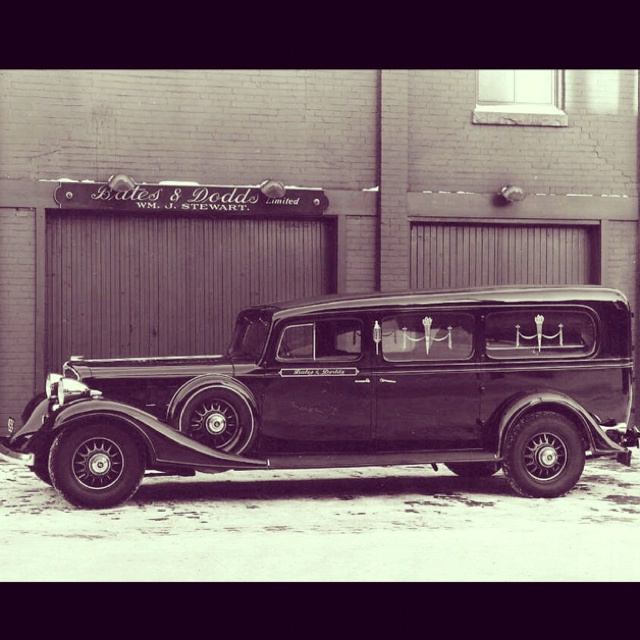 Old Funeral Coach Toronto Bates Funeral Parlor Queen St West