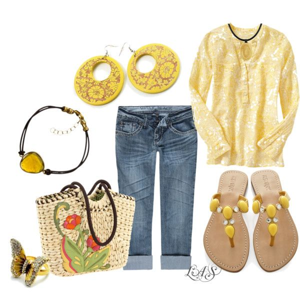 Outfit: Training Outfits, Fit Outfits, Yellow Outfits, Untitl 385, Fun Outfits, Outfits Fo, Casual Outfits, Jeans Capri, Spring Outfits