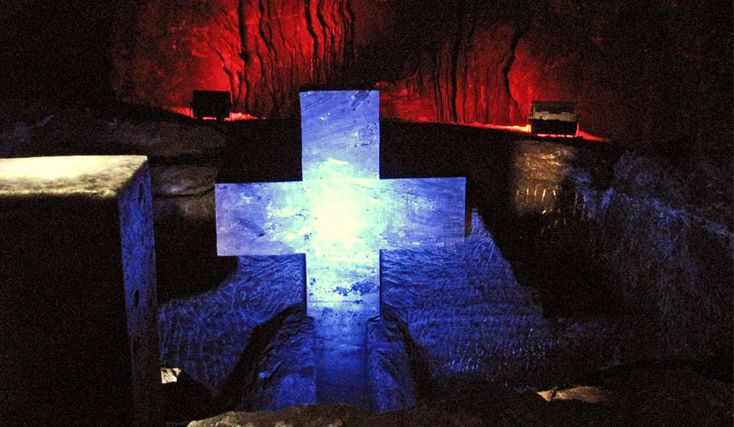 One of the Stations of the Cross - Zipaquira salt mine cathedral