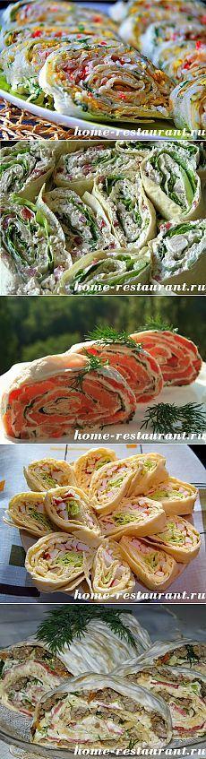 Рулет из лаваша: самые вкусные рецепты с фото | Домашний Ресторан