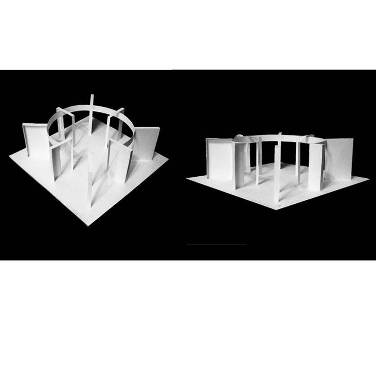 Глубинно- пространственная композиция (бумага, клей)