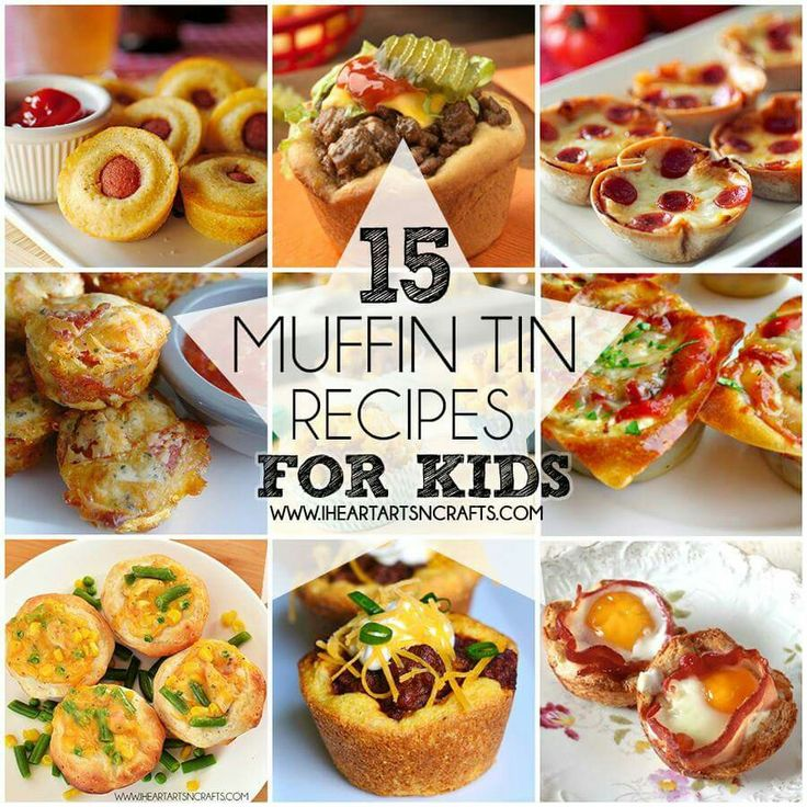 15 Muffin Tin Recipes -Fun and easy for kids. Even the pickiest of eaters will love these. Alsk great new ideas to pack in lunches.