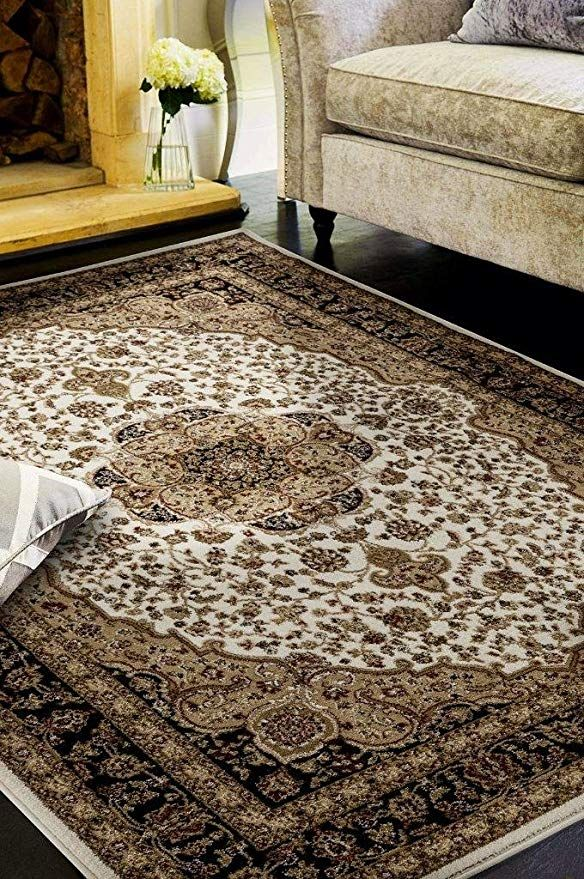 2652 Oriental Ivory 8 X 11 Area Rug Carpet Large New With Images