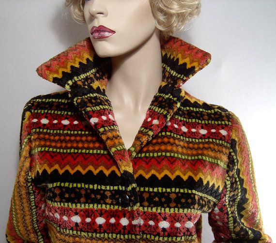 Vintage 60s plush carpet jacket  Small / Medium  by fatspazzy, $105.00