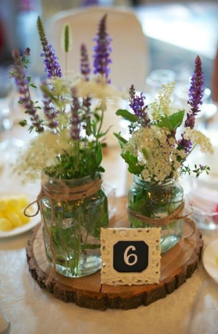 Gorgeous lavender and lace jar centrepieces, perfect for vintage weddings and themes! Simple and effective and easy to make by hand!