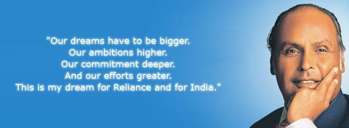 inspirational quotes by dhirubhai ambani