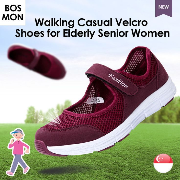 Walking Casual Velcro Slip On Shoes For