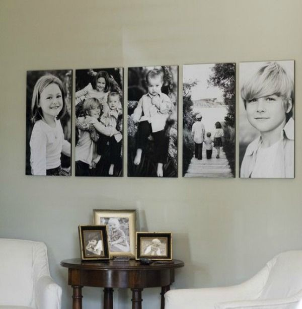 Canvas Print Ideas. Gallery Wall Ideas and Inspiration for PIcture Frame Displays. Family picture frame ideas and ornament for displaying your home portraits.