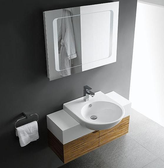 Single Sink Modern Bathroom Vanity Dos90 by Lalia