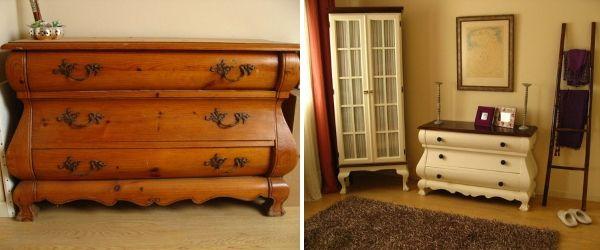 Как красить мебель на примере советского комода
