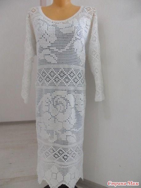 Всем-всем рукодельницам доброго дня или вечера! наконец-то я связала очередное филейное платье.. на этот раз размер моего творения 54..( обычно я вяжу.. намного меньше)..