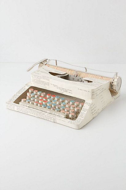 $1,500 one-of-a-kind paper typewriter from Anthropologie