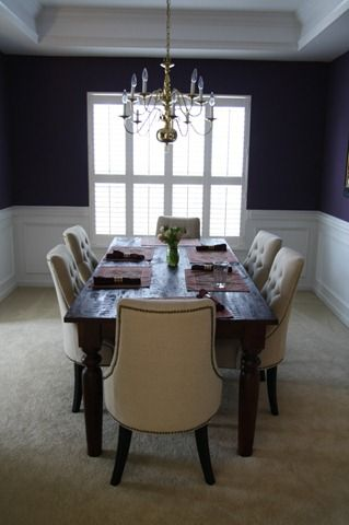 Martha Stewart Eggplant Walls In Dining Room