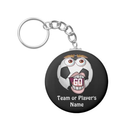 """PERSONALIZED Cheap Soccer Gifts for Players TEAM NAME Under $4. Great Soccer Team Gifts for Boys and Girls.  Type in the TEAM NAME and their Jersey NUMBER instead of """"Go"""" inside the funny soccer ball mouth. How about Senior Night Soccer Gifts Under $4.00. Gifts CLICK this LINK: http://www.zazzle.com/littlelindapinda/gifts?cg=196770565308814581&rf=238147997806552929  Little Linda Pinda Designs ALL GIFTS CLICK HERE: http://www.Zazzle.com/LittleLindaPinda*/"""