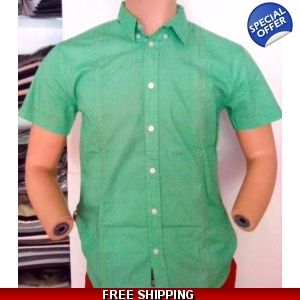 Karl & Kriss Green Dots Printed Shirt - www.onlinedeals.tk