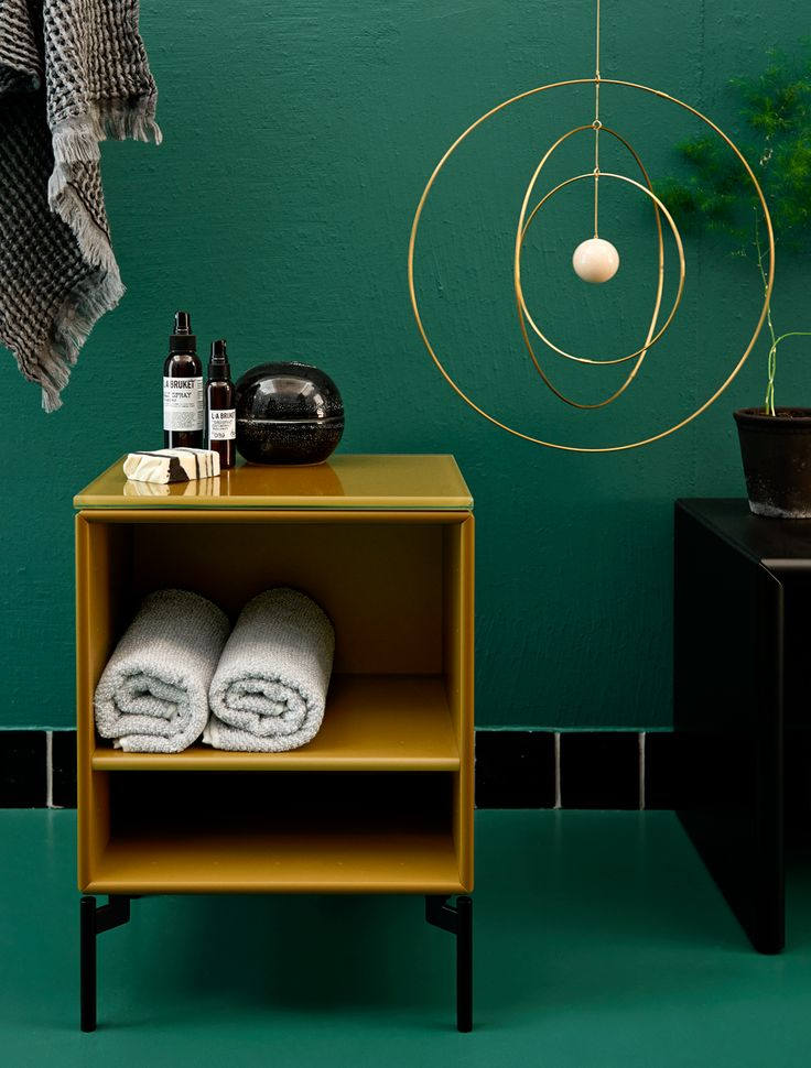 STAY - side table with glasstop from Montana Collection in the colour Boulevard