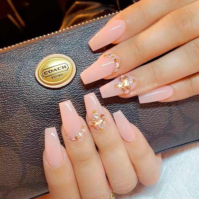 Daneloo Nails Design With Rhinestones Coffin Nails Designs Best Acrylic Nails