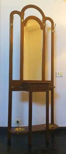 perchero antiguo de madera c/ espejo alt1.80 ancho o,75 . 5.700 $