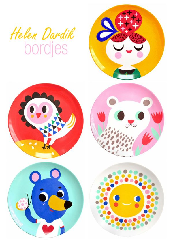 love this helen dardik plates for kids (and mommy!)