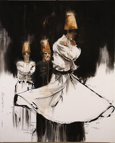 "Iranian artist, Hossein Irandoust Untitled Oil on canvas 66.9"" x 55.1"" 2012"