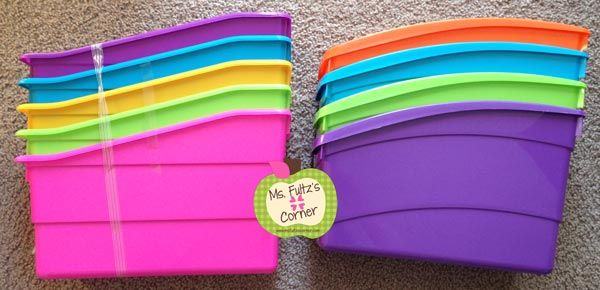 Ms. Fultzs Corner:To Buy or Not To Buy: Plastic Book Bins (plus DIY labels)- cheaper than Really Good Stuff