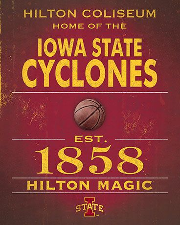 Iowa State Cyclones Vintage Sign