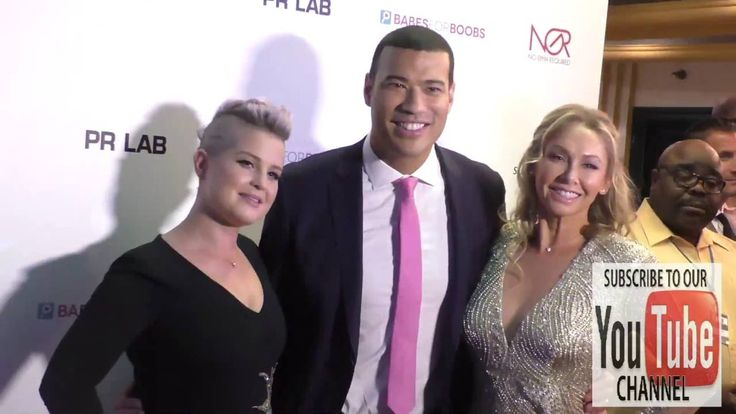 Kelly Osbourne, Kym Johnson and Michael Yo at the Babes For Boobs Bachel...