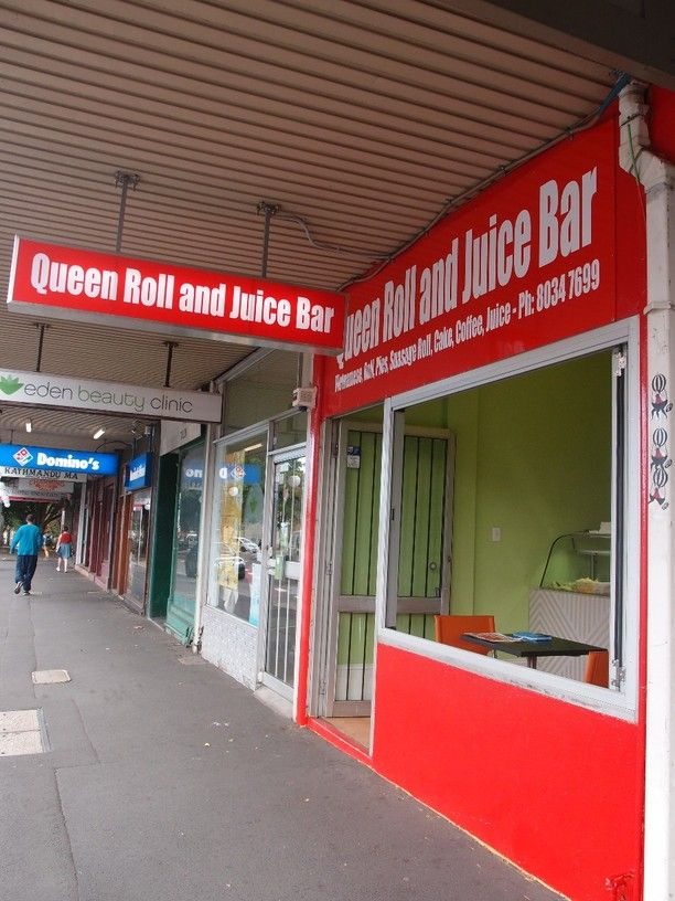 Queen Roll and Juice Bar, Newtown, Australia — by streetfood. Quick lunch fix banh mi for hungry uni students.