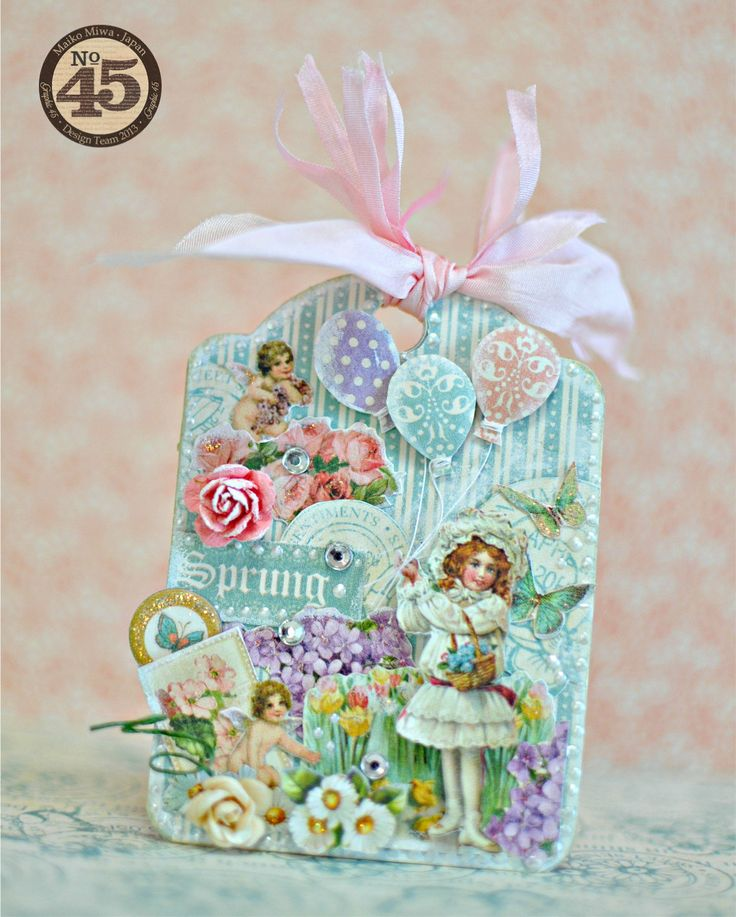 This is an ATC tag with the Sweet Sentiments.The theme is spring.