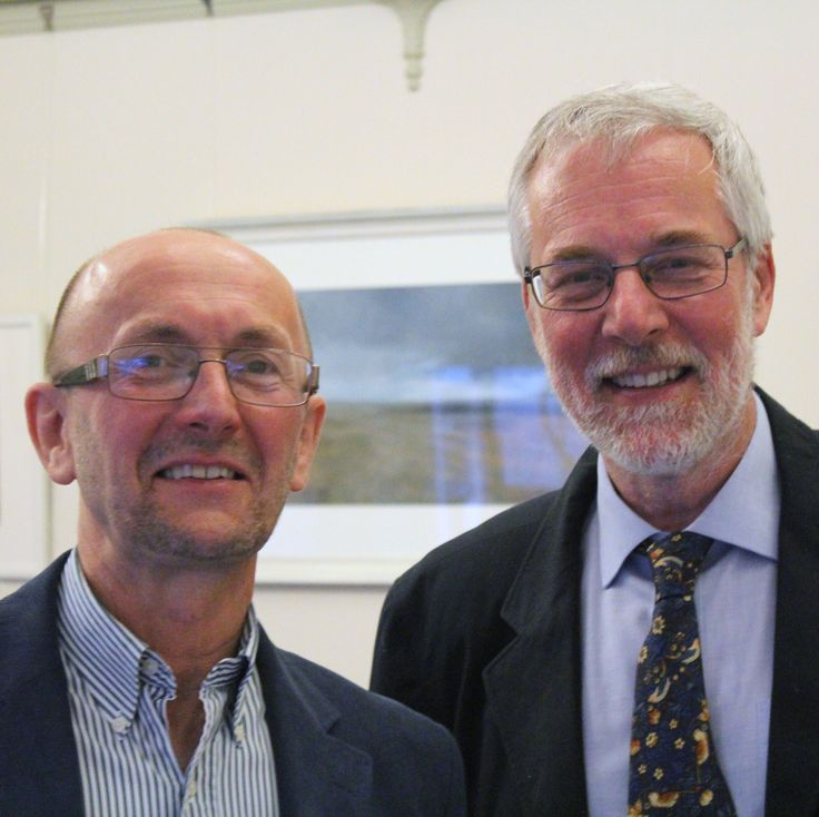 David Wright and Ian Coulson, president of Kent Archaeological Society.  At the launch.
