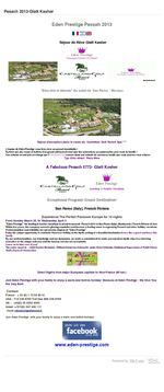 PESSAH 2014 EDENPRESTIGE VACANCES PESSAH2014 EDEN PRESTIGE