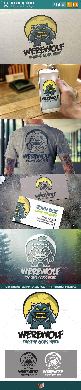 WereWolf Logo Werewolf, Logo templates, Cartoon styles