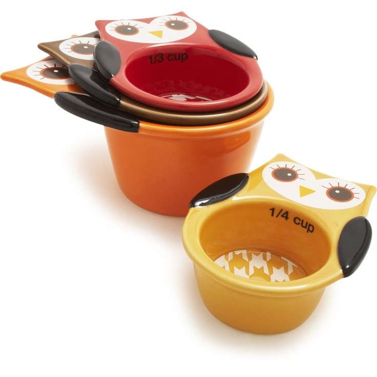 Owl Measuring Cups, I want