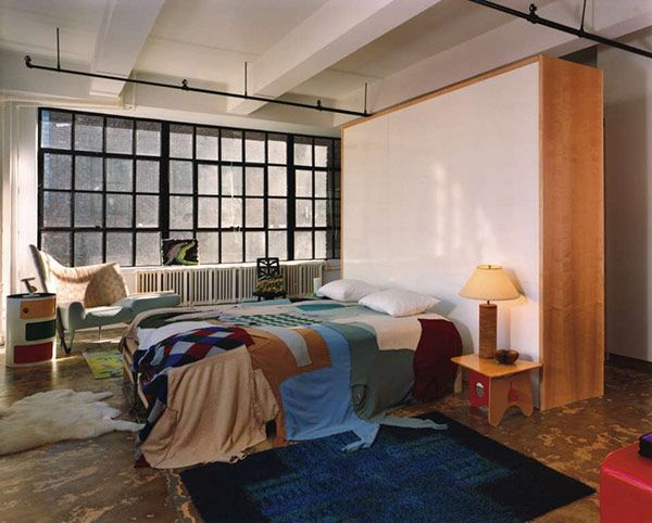 Check Out This Bedspread! Modern Industrial Loft Resolution 4 Architecture. Moderne  SchlafzimmerLoft ...