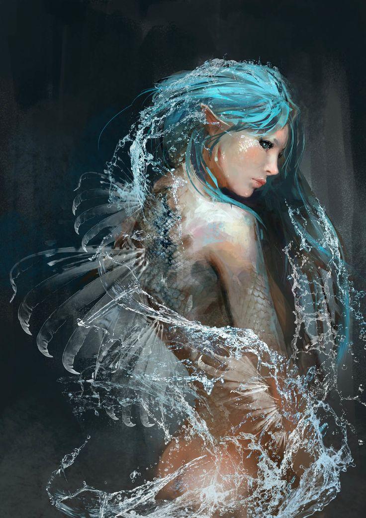 Siren- H.M.O, Kobe Sek on ArtStation at https://www.artstation.com/artwork/siren-h-m-o