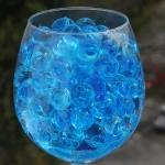 Blå marmor vandperler, 10G, 15,-