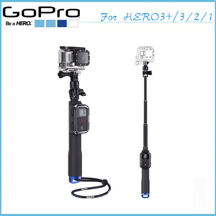 New go pro camera tripod handheld monopod Remote Pole With WIFI Remote Housing tripod adapte for gopro hero 3 gopro hero 4 #camera #tripod #gopro  Simply clip your GoPro Remote into the housing and you are ready for one-handed telescopic handle filming It can be extended and twist-locked to any length from 10.75 to 23 inches